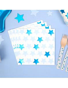 16-grandes-serviettes-etoiles-bleues