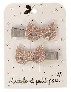 2-barrettes-masques-rose-gold-clip-taupe-luciole-petit-pois
