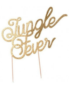 cake-topper-jungle-fever-paillettes-dorees