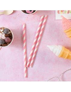 30-pailles-en-papier-rayures-rose-et-blanc