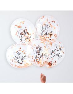 5-ballons-transparents-ecriture-oh-baby-et-confettis-rose-gold-decoration-baby-shower-bapteme