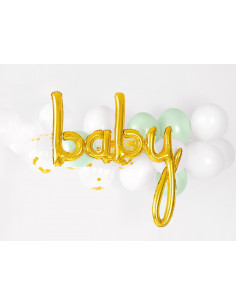 ballon-lettre-baby-aluminium-dore