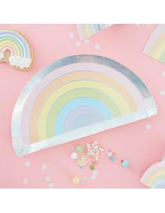 8-assiettes-arc-en-ciel-pastel-irise-deco-fete-pastel-baby-shower-bapteme-anniversaire-evjf