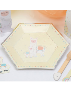 8-grandes-assiettes-lama-pastel-deco-baby-shower-bapteme-anniversaire