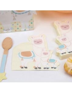 16-serviettes-lama -pastel-decoration-baby-shower-bapteme-anniversaire