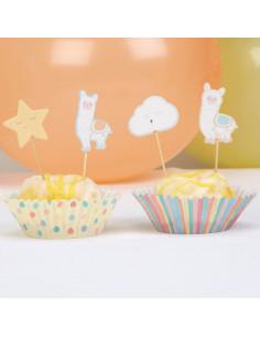 20-piques-gateaux-lama-pastel-decoration-gateau-baby-shower-bapteme-anniversaire