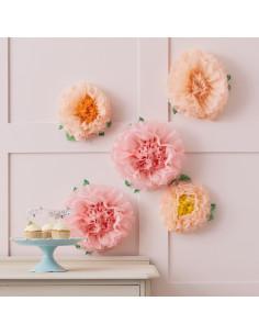 5-pompons-fleurs-rose-pastel-et-peche.jpg