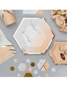 8-petites-assiettes-rayures-degradees-peche-effet-marbre-contour-dore-decoration-baby-shower-bapteme-anniversaire-mariage