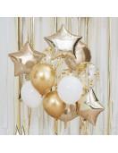 Kit 12 Ballons Confettis, Etoiles, Ronds Dorés.jpg
