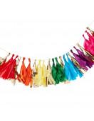 Guirlande Tassel Arc en Ciel Multicolore et Or Déco Arc en Ciel Multicolore