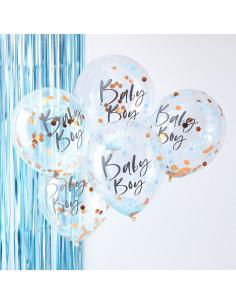 5-ballons-confettis-bleus-baby-boy-deco-baby-shower-garcon