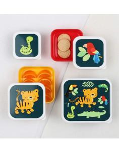 4 Boites à Gouter Animaux de la Jungle A Little Lovely Company