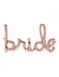 Ballon Lettre Bride Rose Gold Déco Evjf