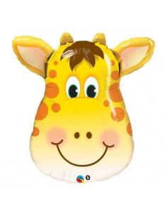 Ballon Tête de Girafe en Aluminium