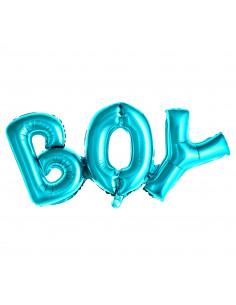 Ballon Lettre Boy Bleu Majuscule en Aluminium Baby Shower Garçon