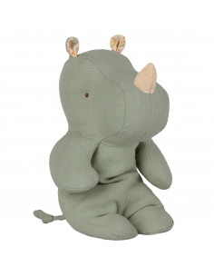 Petit Rhino Lin Lavé Vert Clair 22 Cms Maileg