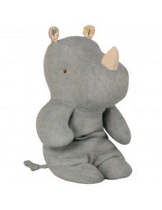 Petit Rhino Lin Bleu Jean Clair 22 Cms Maileg