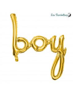 Ballon Lettres Boy Doré en Aluminium 74 Cms