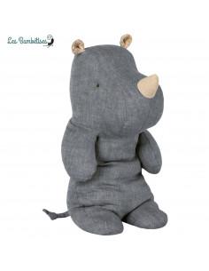 Doudou Rhino Lin Jean Bleu 30 Cms Maileg