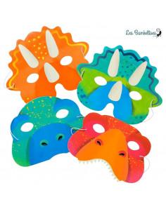 8 Masques Dinosaures Enfant en Carton