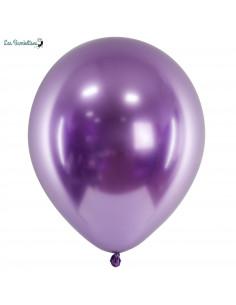 10 Ballons de Baudruche Chrome Violet