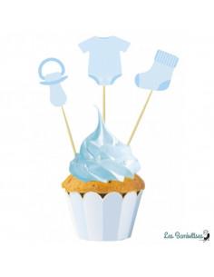 5 Cake Toppers Baby Shower Garçon