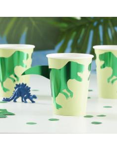 8-gobelets-dinosaures-verts-decoration-anniversaire-dinosaures