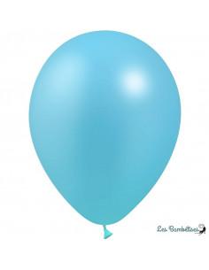 10 Ballons Bleu Ciel Métallisés en Latex