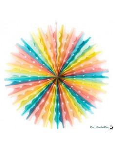 3 Rosaces en Papier Pastels Multicolores