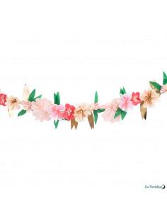 Guirlande Fleurs Roses en Papier Meri Meri Déco Fête Bohème
