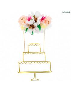 Cake Topper Bouquet de Fleurs Papier Meri Meri