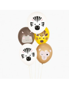 5 Ballons Animaux Safari My Little Day