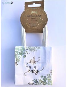 6 Mini Sacs Cadeaux Oh Baby Champêtre