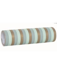 2 Rouleaux de 24 Serpentins Papier Bleus et Or