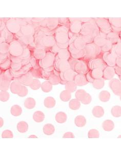 Confettis Ronds Rose Pastel en Papier 1.6Cms