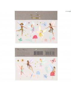 2 Planches de Tatouages Fées Pastels Meri Meri