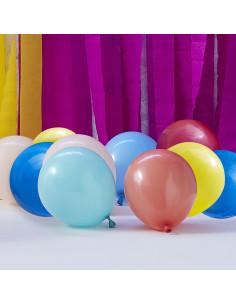 40 Petits Ballons 13 Cms Multicolores Déco Anniversaire