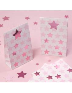 5-pochettes-cadeaux-blanches-etoiles-roses-deco-baby-shower-bapteme-anniversaire-evjf