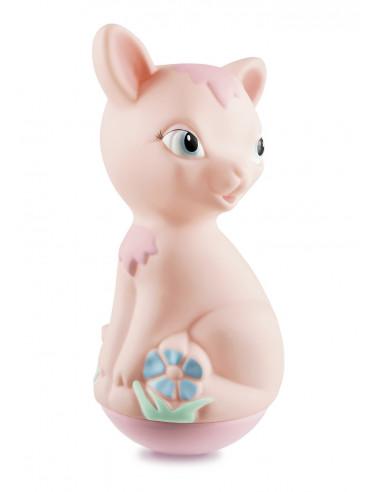 culbuto-biche-claudine-rose-culbuto-bebe-jouet-bebe-vintage