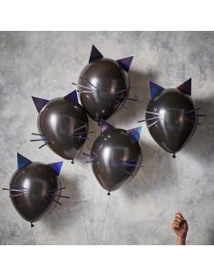 kit-5-ballons-chats-noirs-a-faire-soi-meme