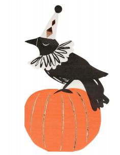 16-serviettes-corbeau-citrouille-halloween-