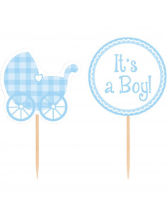 12-cake-toppers-baby-shower-it-s-a-boy-decoration-baby-shower-garcon
