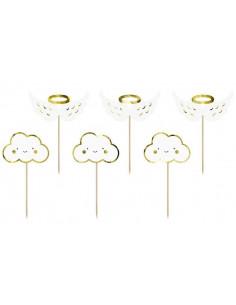 6-piques-gateaux-nuages-et-ailes-d-ange-deco-gateau-baby-shower-bapteme-anniversaire