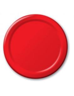 8 assiettes en carton rouge