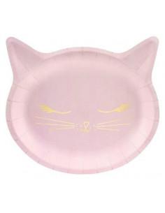 6-assiettes-chat-rose-et-or-deco-baby-shower-bapteme-anniversaire
