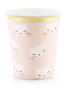 6-gobelets-chat-rose-et-or-deco-baby-shower-bapteme-anniversaire