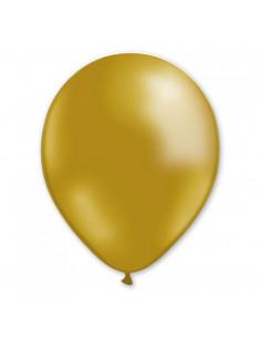 10 ballons dorés en latex