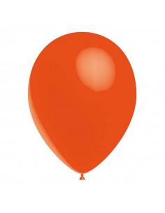 10 ballons oranges en latex