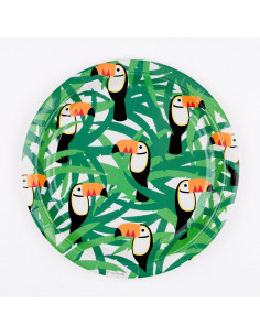 8 assiettes toucan my little day