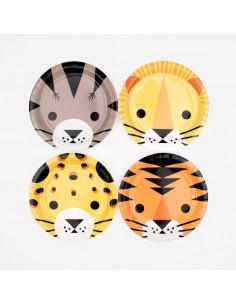 8 petites assiettes animaux de la jungle my little day
